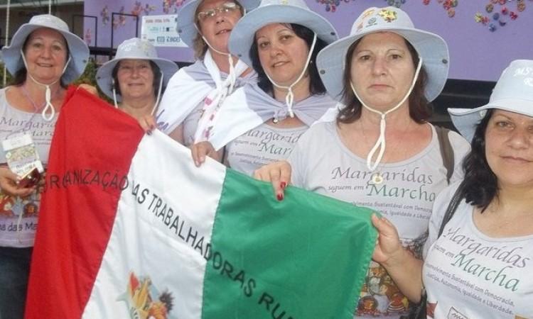 MULHERES DO STR NA MARCHA DAS MARGARIDAS 2015