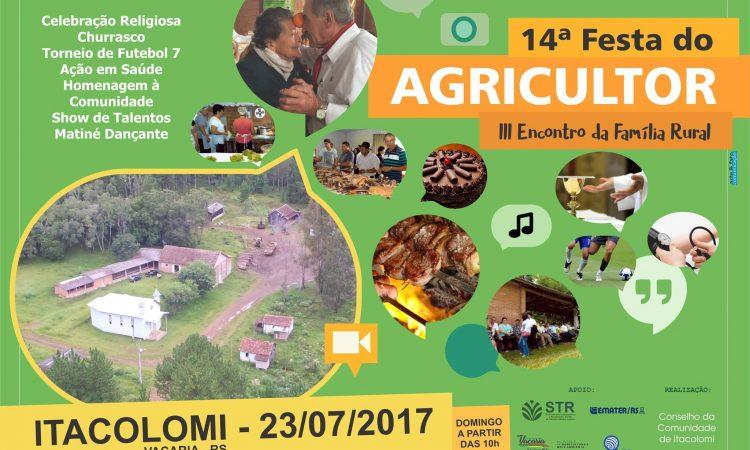 Festa do Agricultor será no dia 23 de julho na Itacolomi