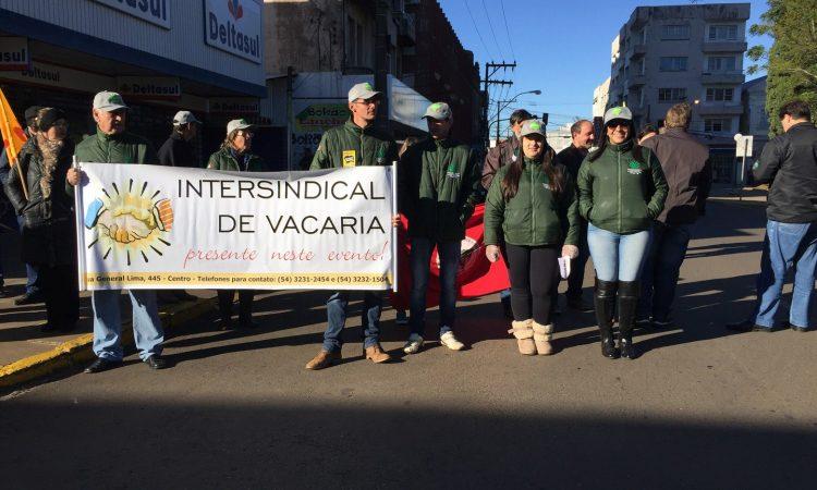 STR de Vacaria e Muitos Capões participam de Mobilização contra as Reformas da Previdência e Trabalhista