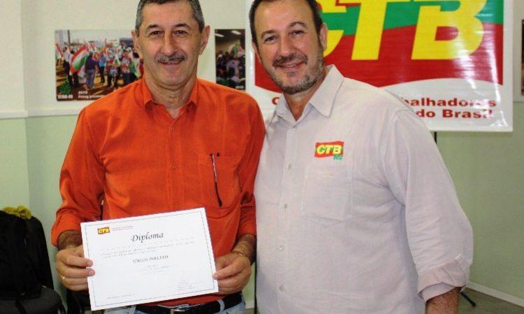 Sérgio Poletto diplomado diretor da CTB-RS