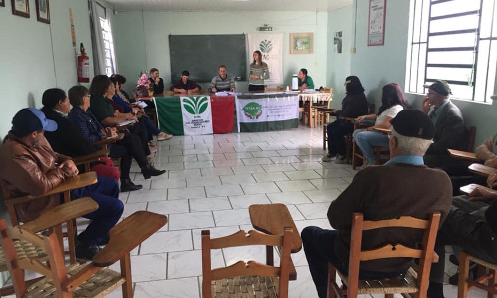 Lideranças Rurais se reunem no STR de Vacaria e Muitos Capões