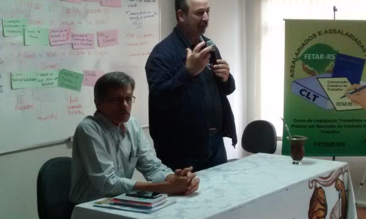 CTB-RS FAZ SAUDAÇÃO NO SEMINÁRIO DA FETAR-RS