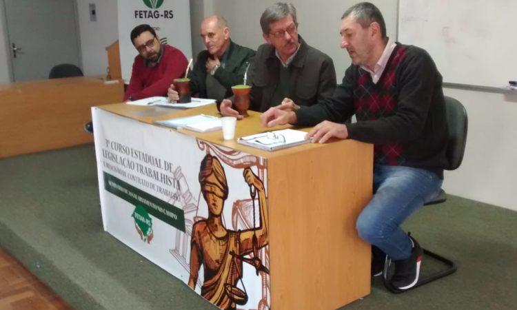Integrantes do STR de Vacaria e Muitos Capões participa de curso sobre Legislação Trabalhista em Porto Alegre