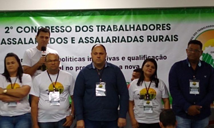 Gabriel Santos Arroio Grande, foi eleito nessa quarta-feira presidente da Confederação Nacional dos Trabalhadores Assalariados Rurais (CONTAR)