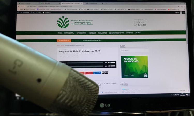 Programa de Rádio 22 de fevereiro 2020
