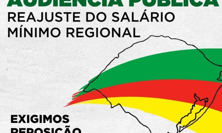 Piso Regional terá audiência pública em Porto Alegre